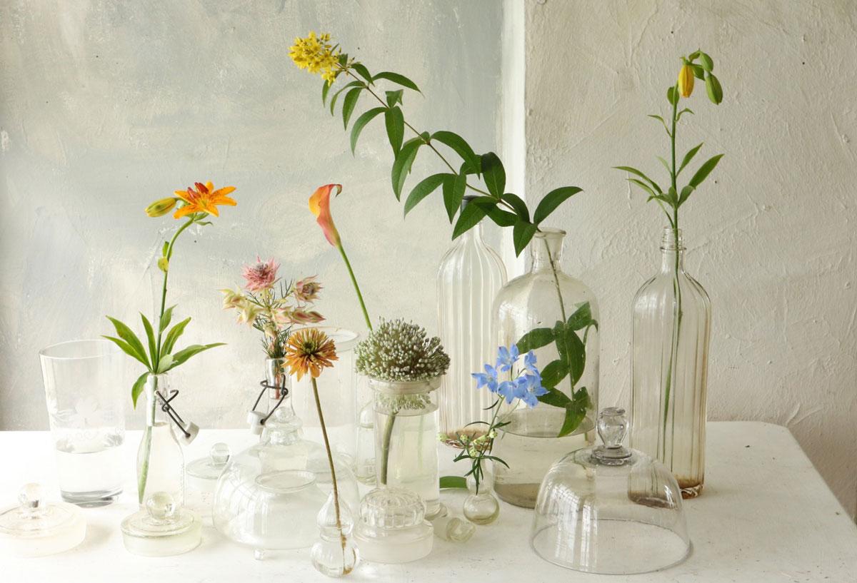 花とアンティークと|フラワーノリタケ&Tisane infusion  第1回 硝子の雑器で涼を呼ぶ