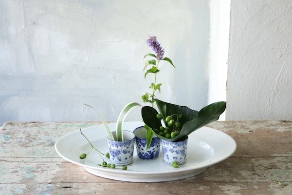 花とアンティークと 第2回(後編)|青い花、青い器 フラワーノリタケ&Tisane infusion