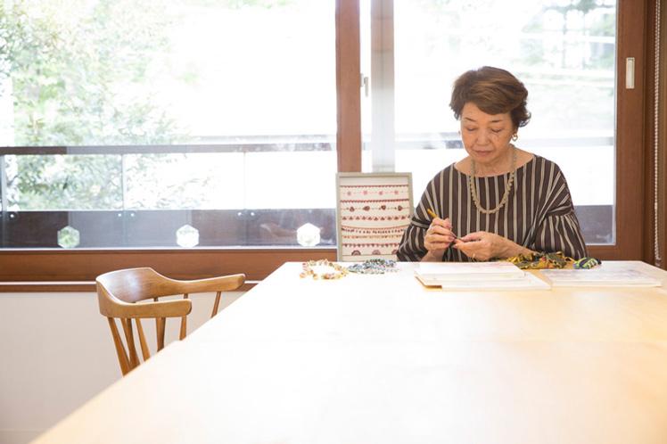 ビーズの縁飾り(後編)|トルコの伝統工芸、ボンジュックオヤで「パイナップルの縁飾り」を編む。講師:西田 碧さん