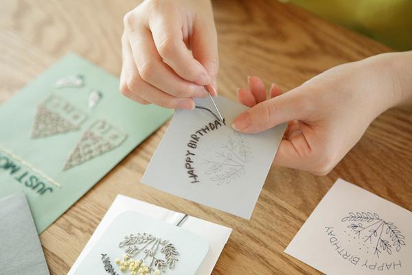 川畑杏奈さん(後編)|『5つのステッチでできるannasの刺繡工房』。工作感覚で手軽に楽しめる紙刺繡を提案。