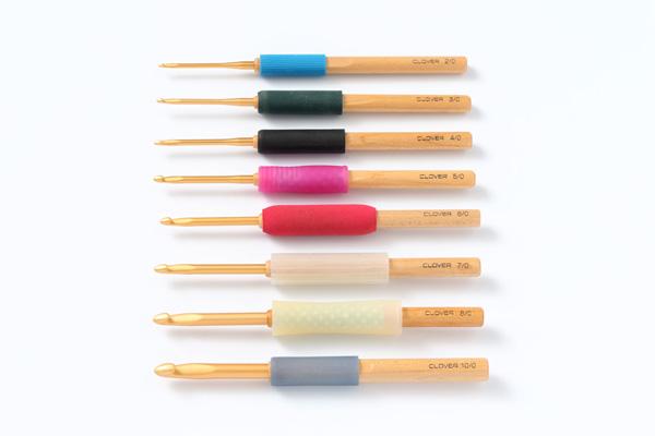 かぎ針|なめらかなかぎの先と持ちやすい持ち手、編みやすさや疲れにくさまで研究された日本のメーカーの道具なら安心して使えます。