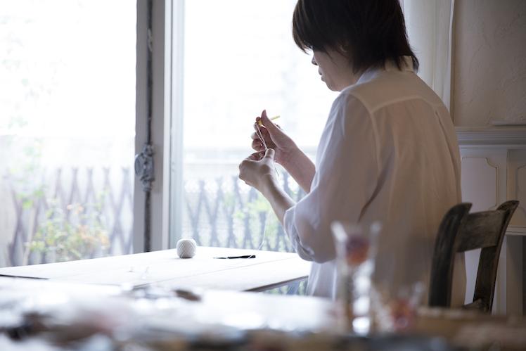 つくりら主催のワークショップ第2弾「糸が織りなす美しい世界」。 寺島綾子さんの小さなてまりのアクセサリーと、佐東玲さんのニードルタティングレース 2018.7.15(Sun)東京