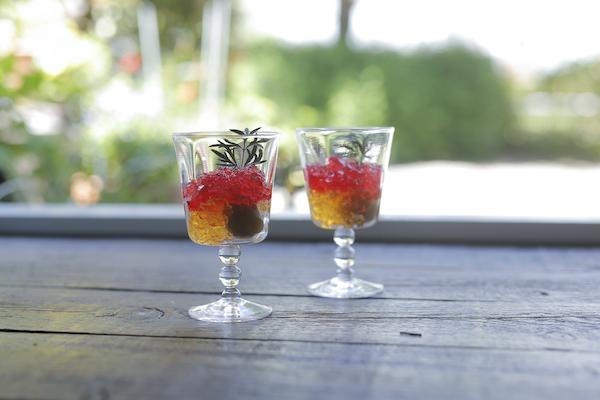 二十四節気 暦のレシピ 第5話 芒種|2色のハーブでつくる梅酒ゼリー