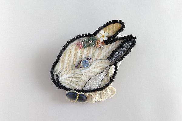 オートクチュール刺繍でつくる「うさぎブローチ」のワークショップ。「Rika OGASAWARA Fair Mon Jardin ~モンジャルダン~私のお庭」2019.7.24(Wed)-8.6(Wed) 名古屋