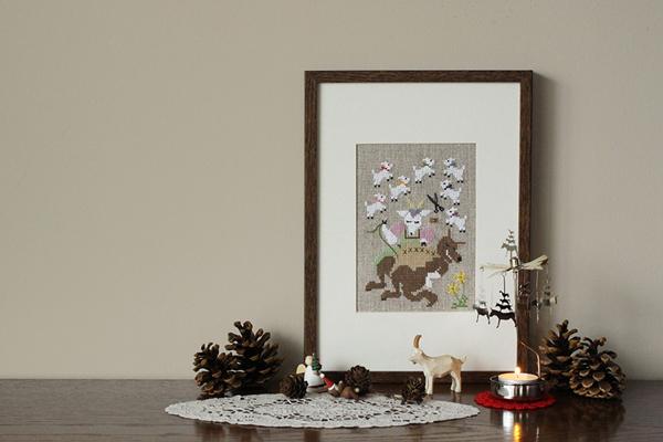 クロスステッチ刺繍で紡ぐ物語。「グリムのお話とクリスマス」 2019.10.2(Wed)〜11.29(Fri) 東京