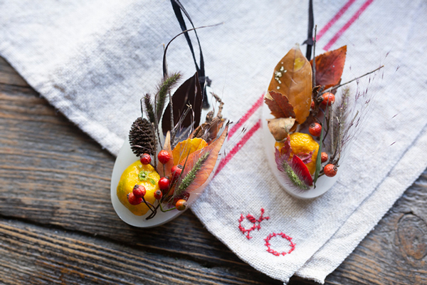 二十四節気 暦のレシピ 第16話 小雪|木の葉と柑橘のアロマワックスサシェ