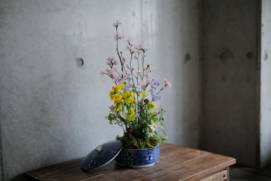 盆栽風お花見アレンジメント|二十四節気 暦のレシピ 第24話(最終回) 春分