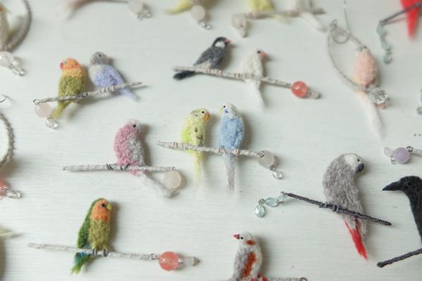 羊毛フェルトの野鳥アクセサリー torikomono・岩田千種さんの作品展 2020.6.6(Sat)〜6.14 (Sun) 東京