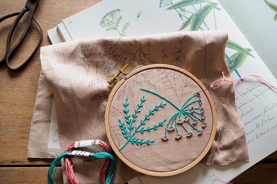 植物刺繍と季節のお話 第4話(前編)| ハーブの夏
