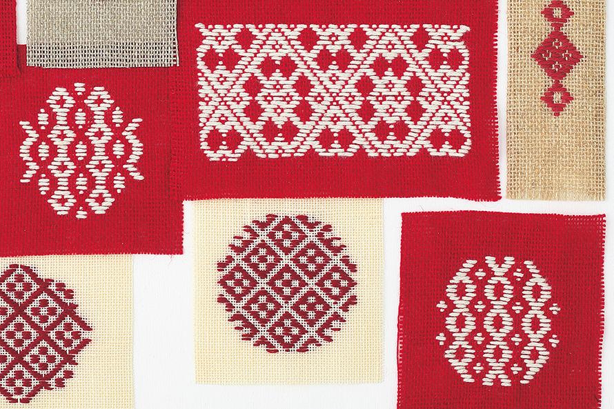hanakogin はなさん(後編)|麻と糸が擦り合う音が心地よい、伝統技法のこぎん刺し。素材と色と模様の組み合わせが楽しくて。