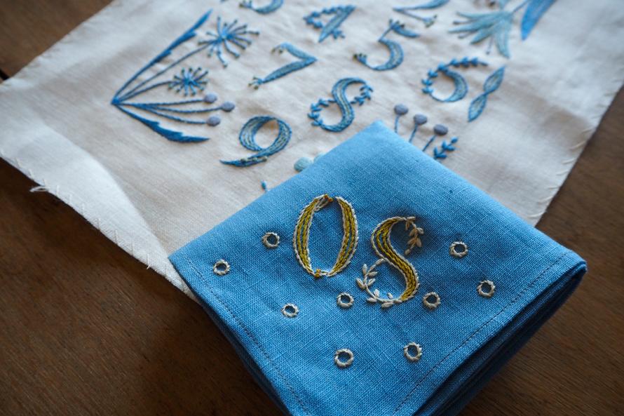 植物刺繍と季節のお話 第5話(後編)| 青いリネンのハンカチ刺繍