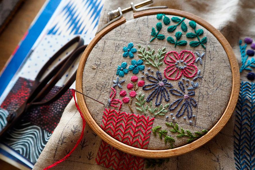 植物刺繍と季節のお話 第6話(前編)| パッチワークにリスペクトを込めて