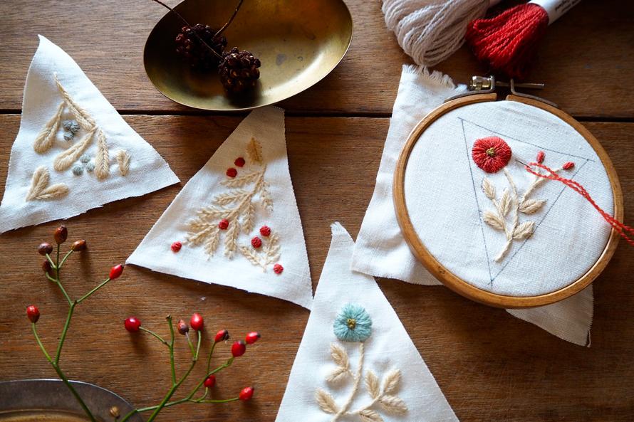 植物刺繍と季節のお話 第9話(前編)|ウール刺繍のオーナメント