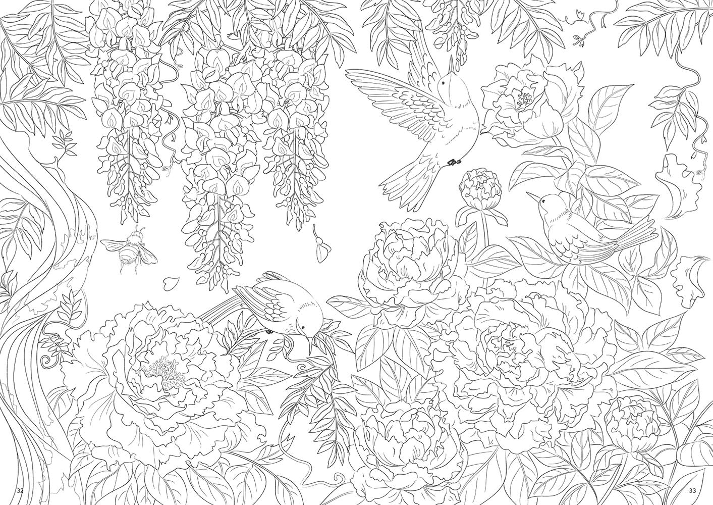 12ヵ月の花々 ぬり絵
