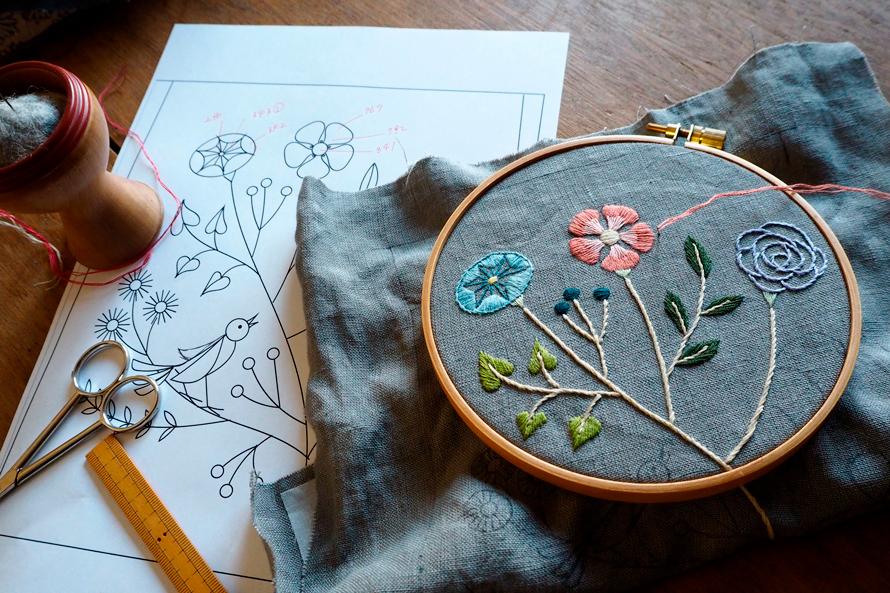 植物刺繍と季節のお話 第11話(前編)|空想植物の小さなバッグ