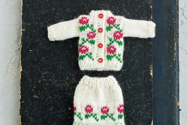 ラトビアの伝統柄 編み込みセットアップ
