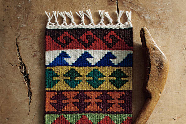 キリムのヨコボーダー 斜め織り