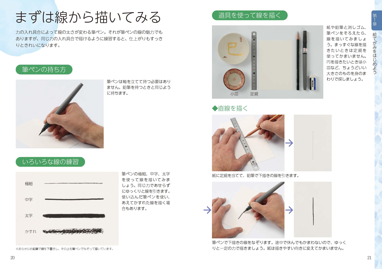 筆ペンだからすぐ描ける ほっこり絵てがみ
