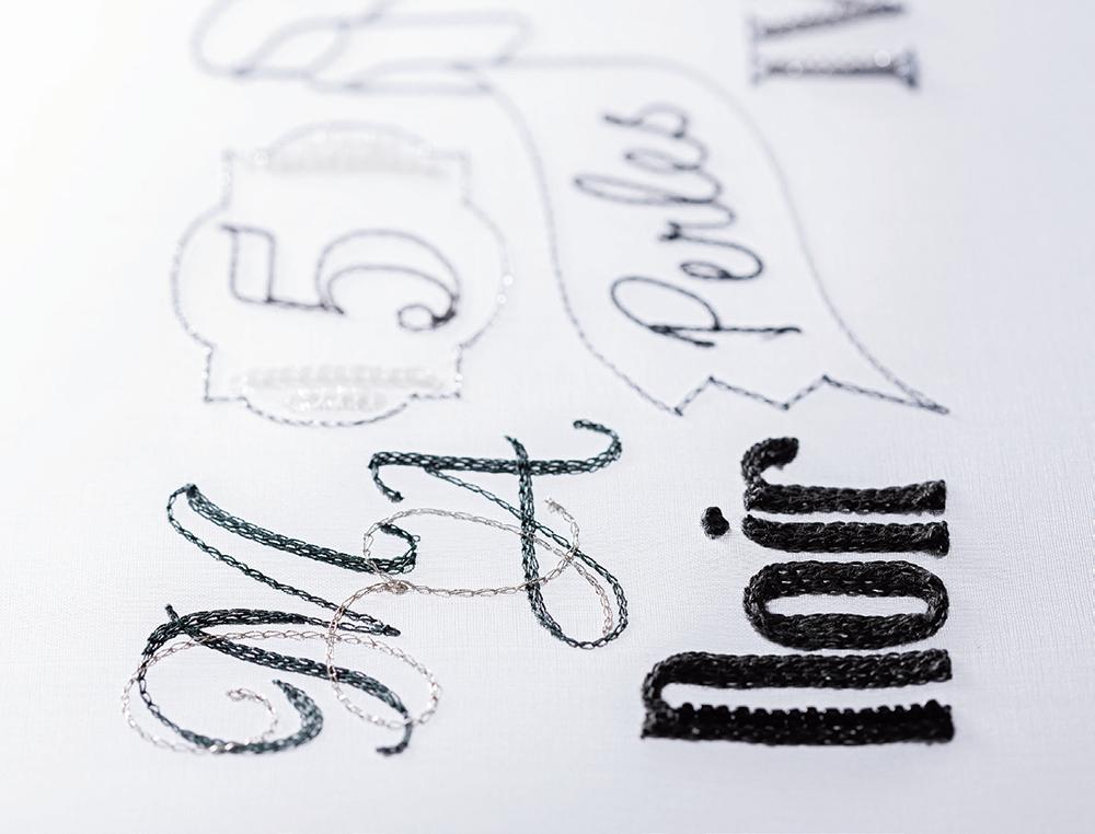ALPHABETS アルファベット『はじめてのオートクチュール刺繡』より