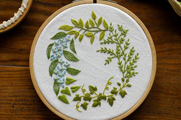 『植物刺繡と12か月のおはなし』書籍発売のご案内